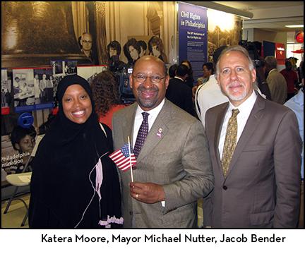 Katera Moore, Mayor Michael Nutter, Jacob Bender