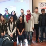Pitt MSA members (President of MSA, Amal Saeed is seen in the first row on the right in black dress), with CAIR board and staff (Ishfaq Ahmad and Zohra Lasania), and Emgage Representative (Brother Wasi Muhammed).