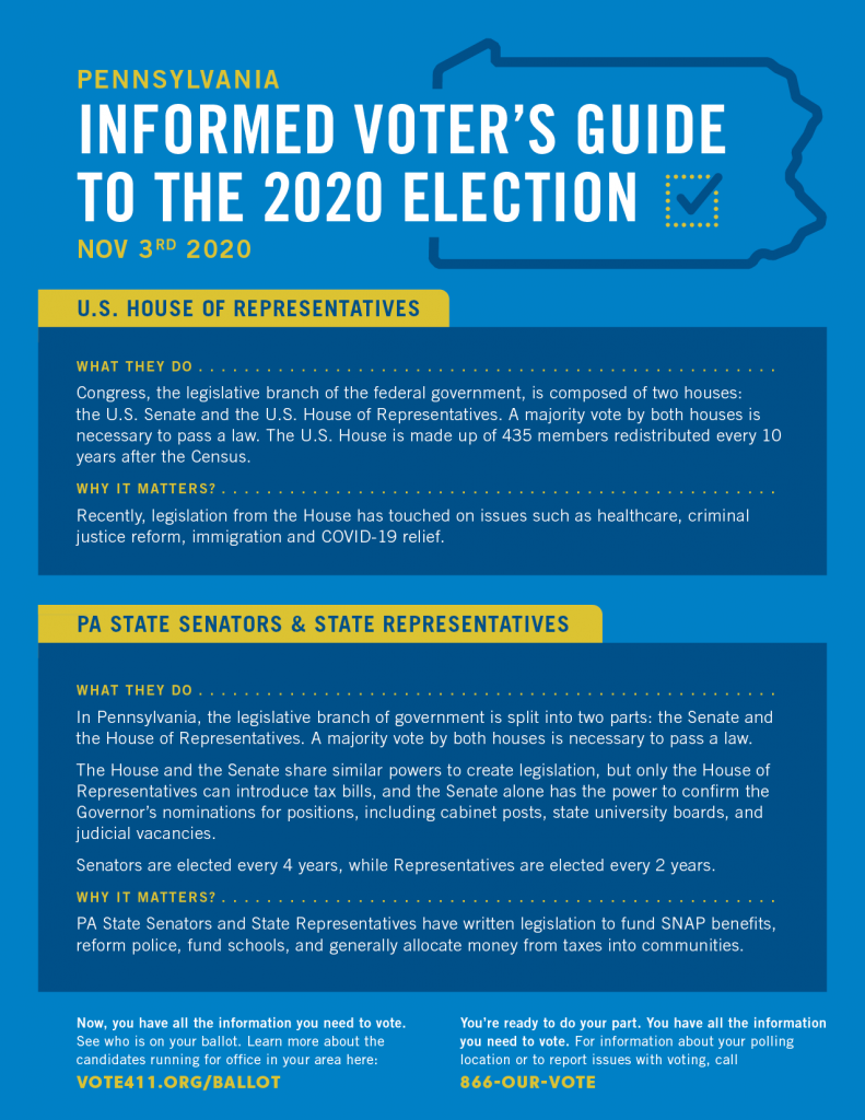 Informed Voter's Guide to the 2020 Election