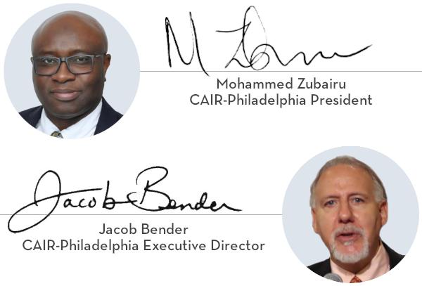 Mohammed Zubairu, CAIR-Philadelphia President & Jacob Bender, CAIR-Philadelphia Executive Director